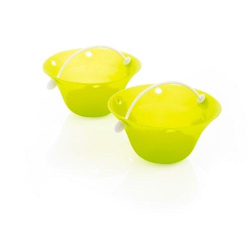 Mastrad Silicone Egg Poacher With Handle - Set Of 2