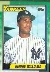 1990 Topps Bernie Williams Rookie Baseball Card #701 - Shipped In Protective Display Case!