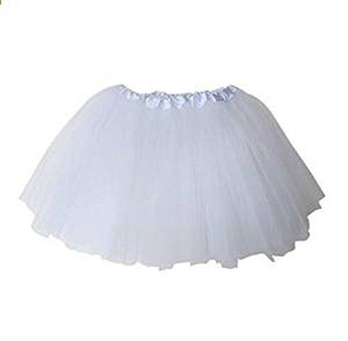 "Dealzip Inc® 12"" White Kids Ballet Tutu Dress Skirt"