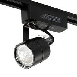 Juno Lighting R701-BL Track Light, Low Voltage Cylinder Track Fixture - Black-2PK