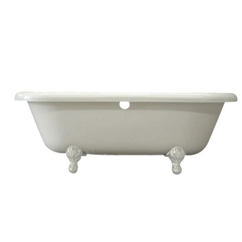 Purchase Kingston Brass Aqua Eden VTDS673023HW Double Ended Acrylic Tub with White Constantine Lion ...