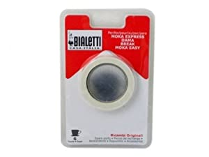 Bialetti Replacement Gaskets and Filter for All 6 Cup Stovetop Espresso Coffee