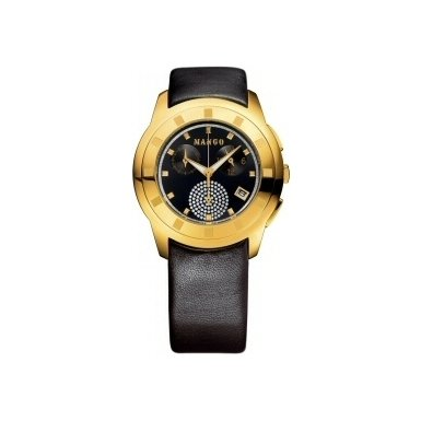 Mango Black And Gold Ladies Watch - QM762.11.01