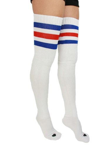 YogaColors Stripe Thigh-High Heart Sock