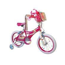 Barbie Girl's Bike, 16-Inch, Pink/White
