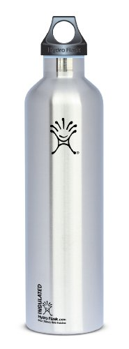 Hydro Flask Stainless Steel Drinking Bottle, Classic Stainless, 24-Ounce front-668751