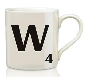 Mug - Ceramic Scrabble Letter Mug - W