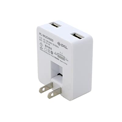 PLANEX 急速充電(2ポート合計2000mA)USB ACアダプタ ホワイト PL-WUCHG03-W (iPod/iPad/iPhone5/4s/4/3GS/3G/Xperia/ウォークマン/Xperia/Galaxy/au/docomo/SoftBank)
