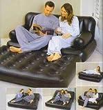 matelas gonflable 5 en 1 divan canapé lit d'appoi...