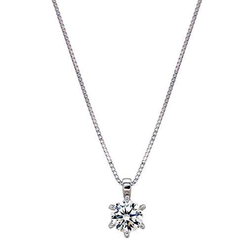 [ジュエリーキャッスル] Jewelry Castle ネックレス 0.5カラット H&C ハート&キューピッド 一粒ネックレス シルバー
