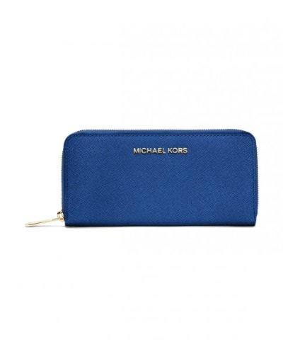Michael Kors Travel Zip Around Continental Wallet In Sapphire Blue