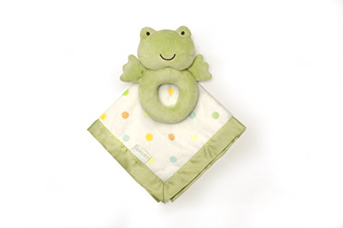 Carter's Rattle and Security Blanket, Green Frog - 1