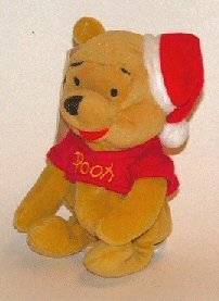 Disney Mini Bean Bag Santa Pooh