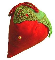Dritz Fons & Porter Novelty Pin Cushion Strawberry 7873; 3 Items/Order