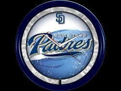 San Diego Padres Plasma Clock by Authentic Street Signs