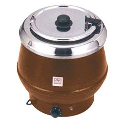 Thunder Group Sej32000Tw Stainless Soup Warmer, 10-Quart, Brown