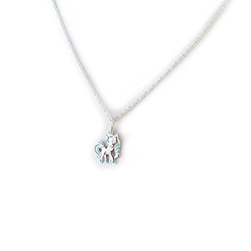 Altesse-M5936-Collier-argent-Licorne-bleu