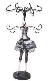 Polka Dot Skirt Mannequin Jewelry Organizer