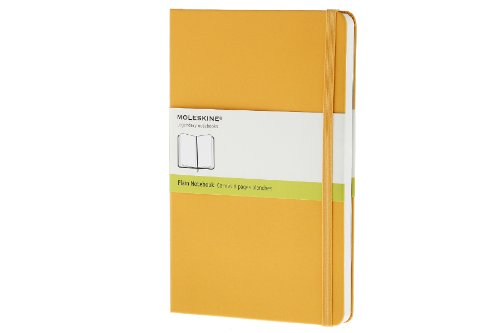Moleskine Notebook Plain Yellow Orange