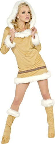 Underwraps Womens Eskimo Kisses Hooded Christmas Outfit Fancy Dress Sexy Costume