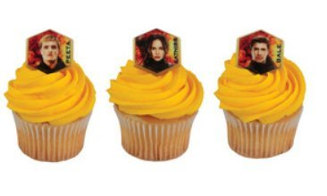 Hunger Games Flaming Cupcake Rings Party of 24 Cupcake Decoration Kit (Hunger Games Cake Topper compare prices)