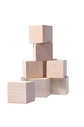 10 pc large blank wooden cubes natural unfinished blocks for Large wooden blocks for crafts