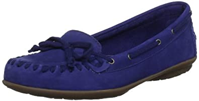 Hush Puppies Navy Ceil Mocc BS Womens Moccasin Shoes, Size 6