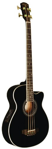 INDIANA Scout Bass SC-ABBK 4-Strings Acoustic Bass Guitar – Black