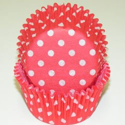 Red Polka Dot Cupcake Liners STD 50 count