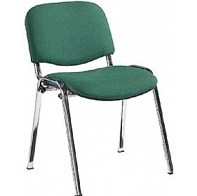 Swift Chrome Frame Conference Chairs (Pack of 4 Chairs) - Green