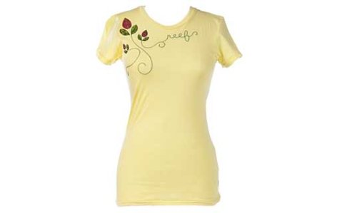 Reef Leaf Logo T-Shirt - Short Sleeve - Women's