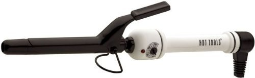 HOT TOOLS HTBW43 Spring Curling Iron, Black/White, 3/4 inch