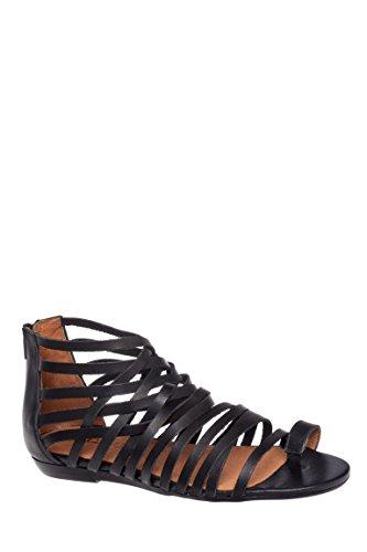Ashley Caged Low Heel Sandal