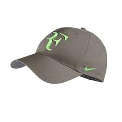 Nike RF Federer Dri Fit Hat 2013 Olive Khaki/Poison Green
