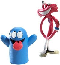 Picture of Mattel Cartoon Network Fling Dings Flingable Figure 2-Pack Bloo & Wilt (B000PST5VC) (Mattel Action Figures)