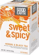 Good Earth: Sweet & Spicy Herbal & Black Tea, 18 bags (3 pack) from Good Earth