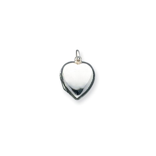 Sterling Silver Domed Heart Locket