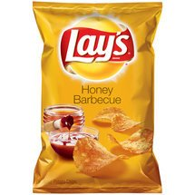 Frito Lay, Lay'S Honey BBQ Potato Chips, 9.5Oz Bag (Pack Of 3)
