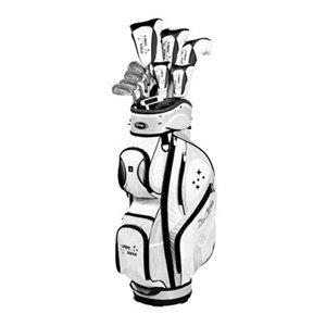 Tour Edge Women's Edge Complete Golf Club Set, Black/White