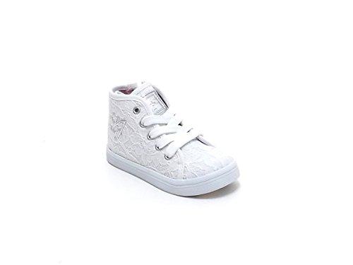 Liu Jo scarpe bambina, articolo 22056B, sneakers in pizzo, colore bianco