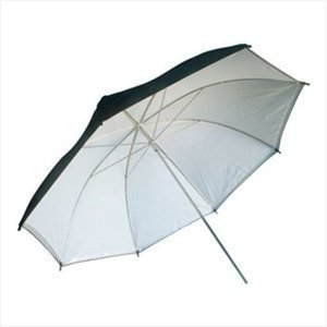 CowboyStudio 43-Inch Black and White Umbrella for Photography and Video Lighting Reflective