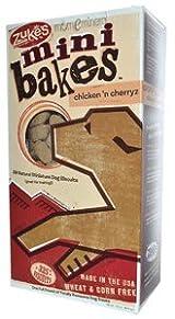 Mini Bakes, All-Natural Miniature Dog Biscuits, Chicken 'n Cherryz, 325+ Biscuits, 16 oz (454 g) by Zuke's