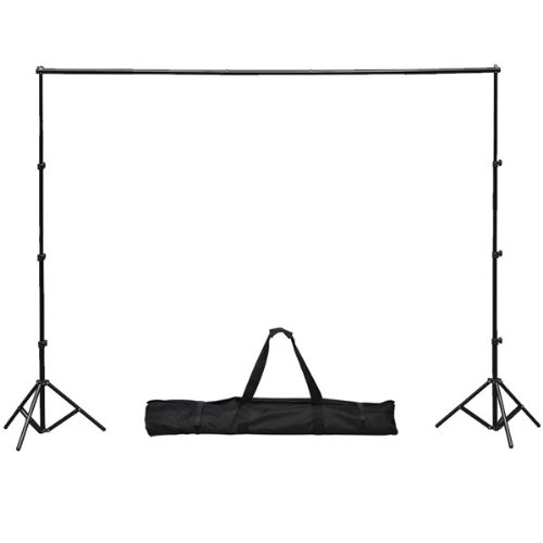 Black Aluminum 10 X 8 1/5 Ft Portable Photography Background Backdrop Tripod Stand Kit Carry Case Adjustable Height Width Pole Bar For Photo Studio Support System