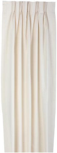 Fireside Pinch Pleated 96-Inch-By-84-Inch Thermal Insulated Drapes, Natural