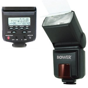 Bower SFD926C Autofocus Dedicated e-TTL I/II Power Zoom for Canon EOS 7D, 5D, 60D, 50D, Rebel T3, T3i, T2i, T1i, XS Digital SLR Cameras