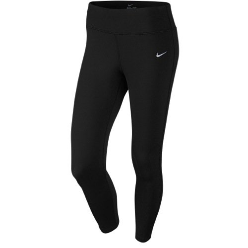 Nike Epic Run Lux Crop Tight - Women's Black/Reflective Silver, XL