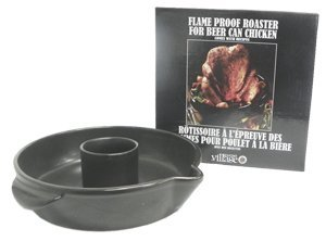 Gourmet Village Poultry Roaster - Beer Can - Black