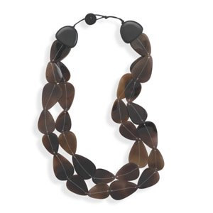 Double Strand Shell Fashion Necklace
