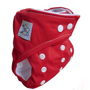 Baby City Adjustable Pocket Cloth Diaper (Red)