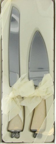 Everlove Set Of 2 Cake Server And Knife By Enesco